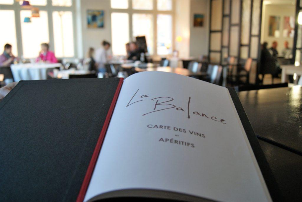 Restaurant La Balance Carte des vins